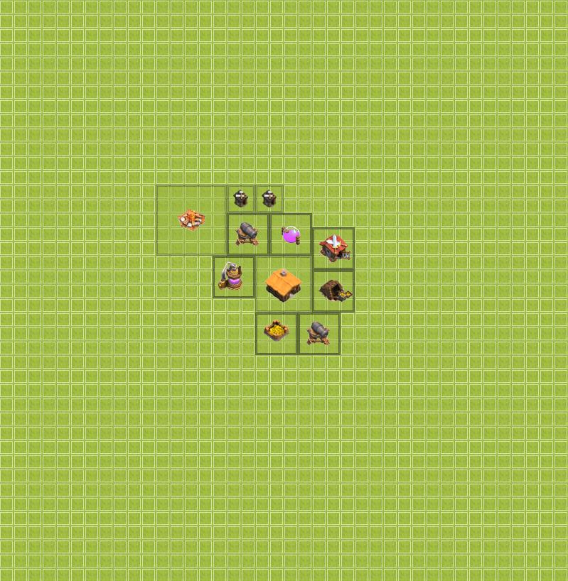 Clash of Clans 1. Seviye Köy Düzeni