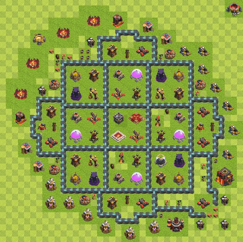 Clash of Clans 10. Seviye Köy Düzeni 2