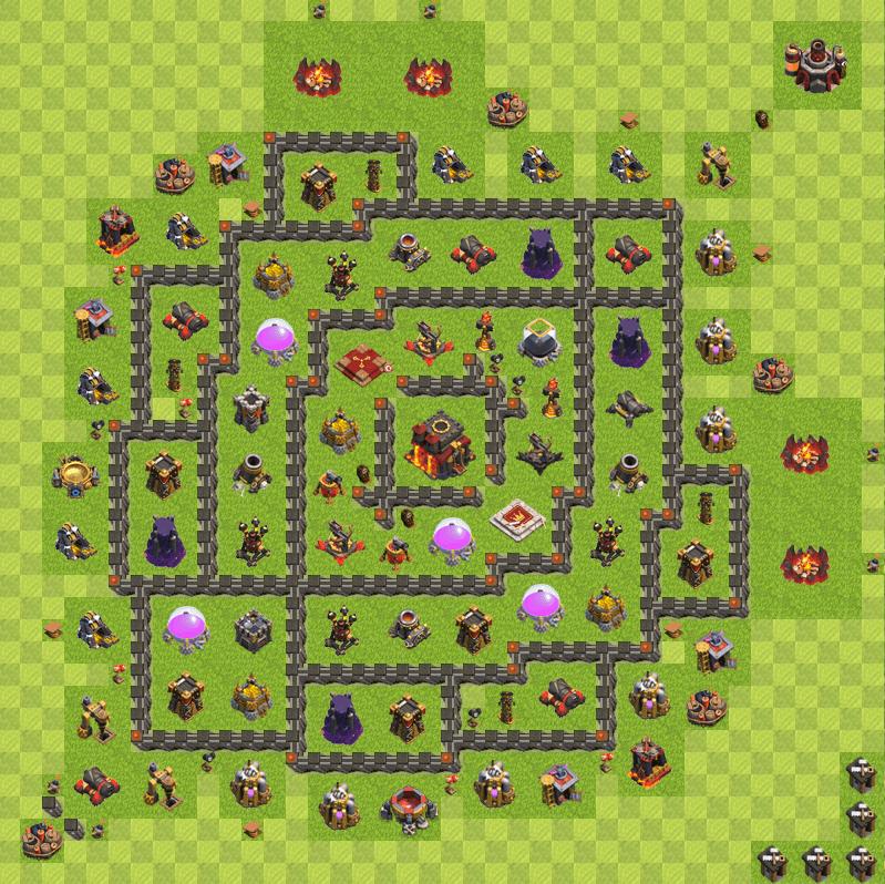 Clash of Clans 10. Seviye Köy Düzeni