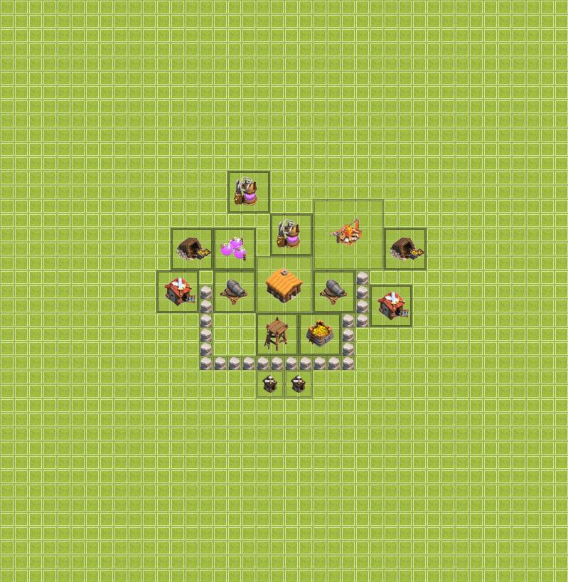 Clash of Clans 2. Seviye Köy Binası
