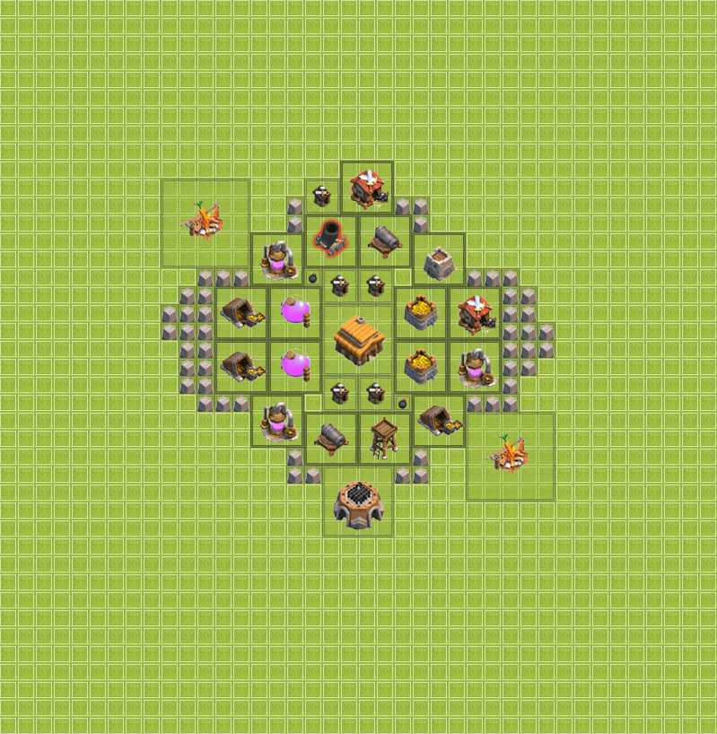 Clash of Clans 3. Seviye Köy Düzeni