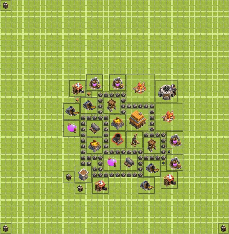 Clash of Clans 4. Seviye Köy Düzeni