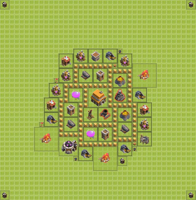 Clash of Clans 5. Seviye Köy Düzeni 2