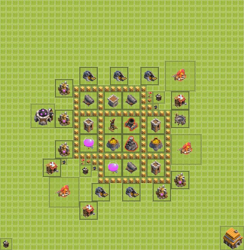 Clash of Clans 5. Seviye Köy Düzeni
