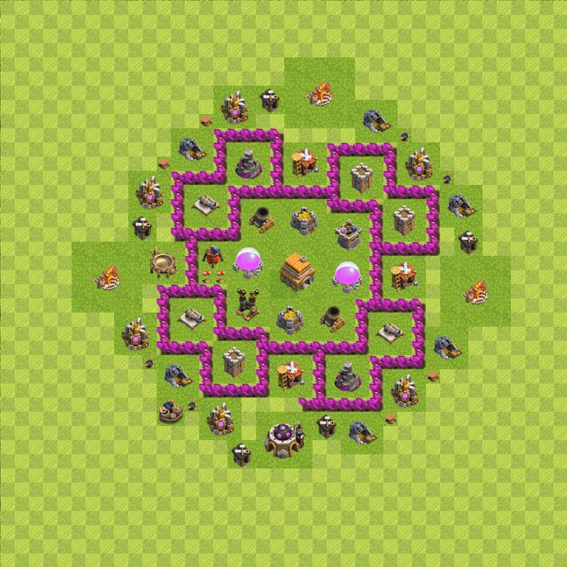 Clash of Clans 6. Seviye Köy Düzeni 2