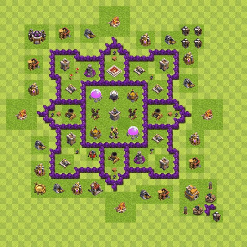 Clash of Clans 7. Seviye Köy Düzeni 2