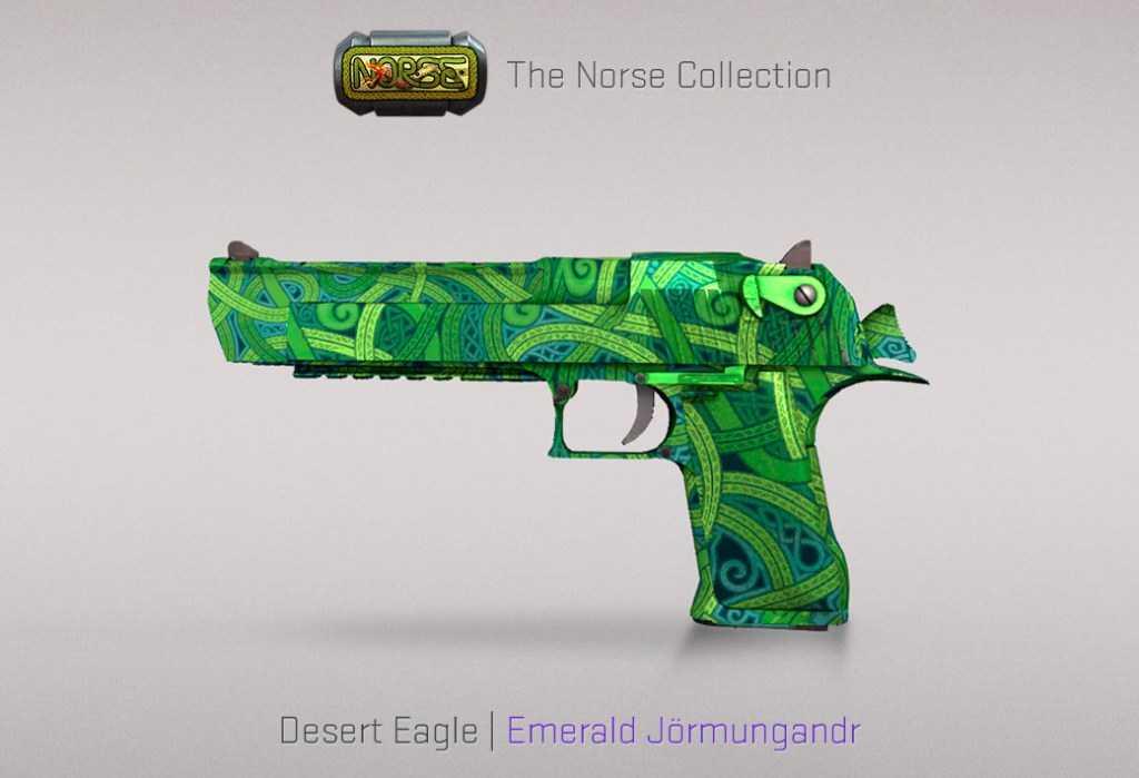 Desert Eagle - Emerald Jörmungandr