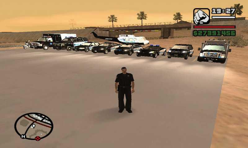 GTA SA Polis, Seviyeler ve Çete Hileleri