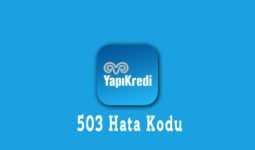 Yapı Kredi 503 Hata Kodu