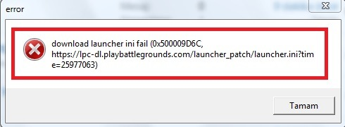 PUBG lite download launcher ini fail (0x500009D6C)