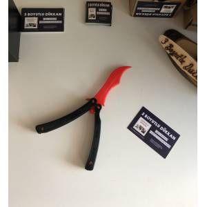CS:GO Bıçakları: Gerçek Boyutlu Kırmızı Kelebek Alıştırma