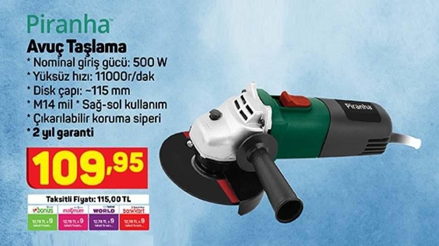 A101 Piranha Avuç Taşlama 500w Fiyatı Ne Kadar? (Kaç TL?)