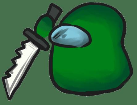 Among Us Emoji: Kapalı Yeşil