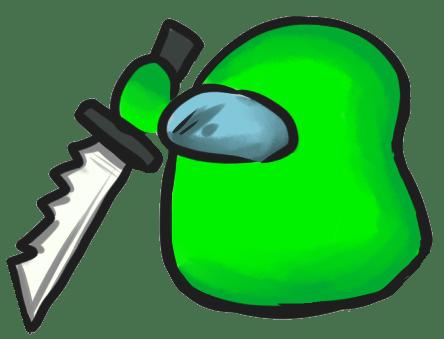 Among Us Emoji: Açık Yeşil