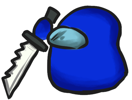 Among Us Emoji: Lacivert