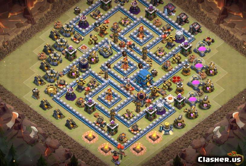 Clash of Clans 12. Seviye Köy Düzeni
