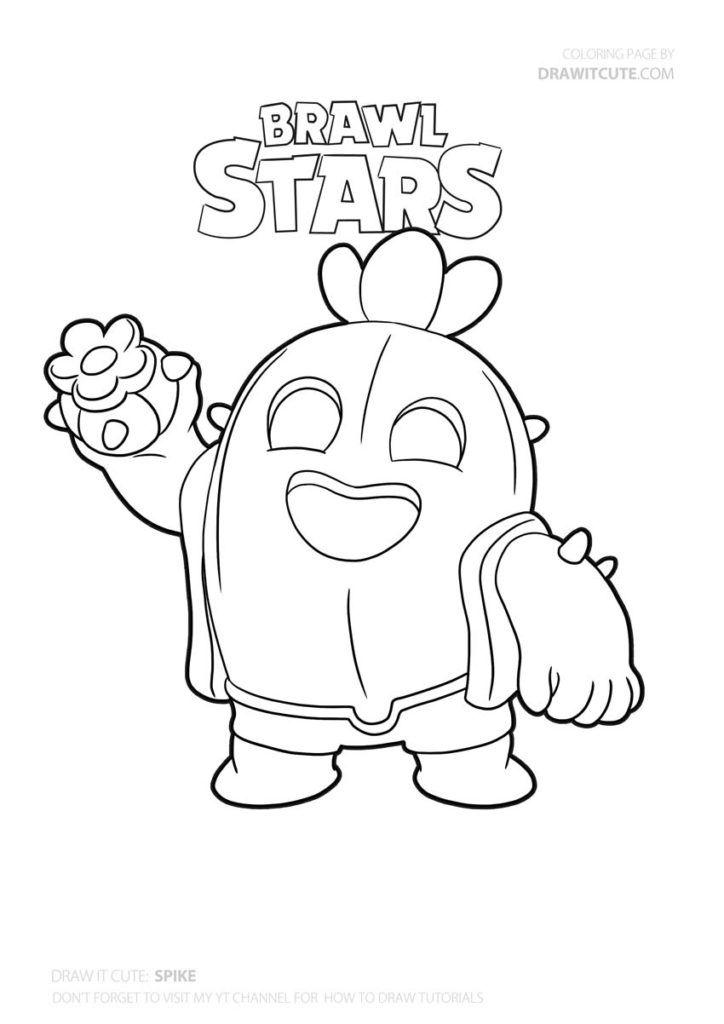 Brawl Stars Karakterleri Boyama: SPİKE