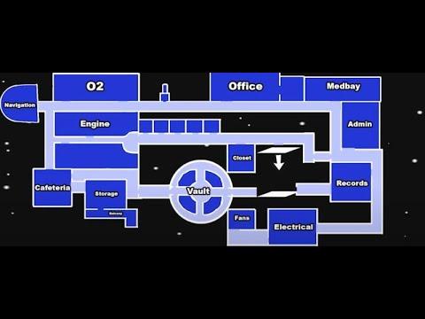 Among Us Airship Haritası Odaları