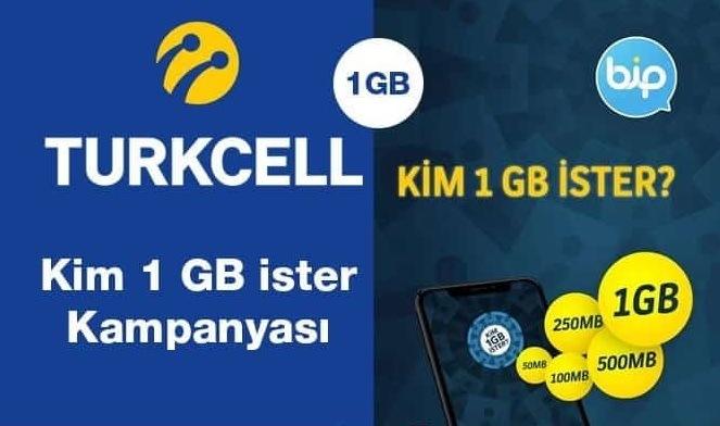 BİP Kim 1 GB İster (1 GB) Bedava İnternet Kazan