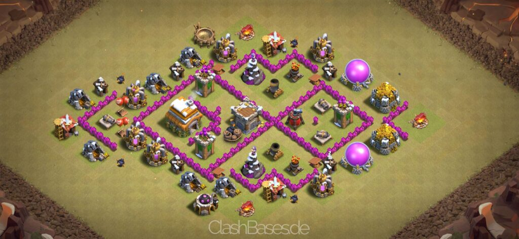 Clash of Clans Köy Düzenleri 2021 - Belediye Binası Seviye 6