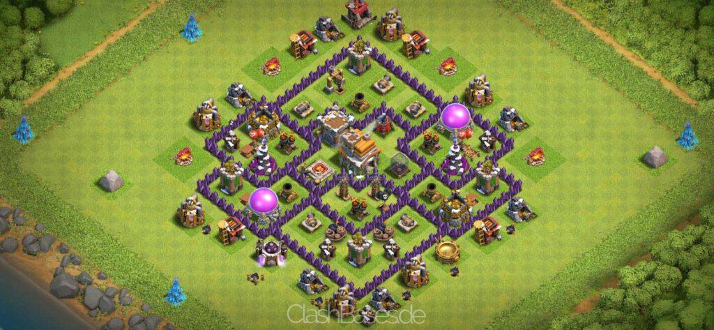 Clash of Clans Köy Düzenleri 2021 - Belediye Binası Seviye 7