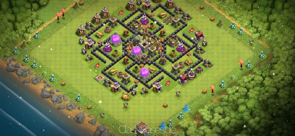 Clash of Clans Köy Düzenleri 2021 - Belediye Binası Seviye 8