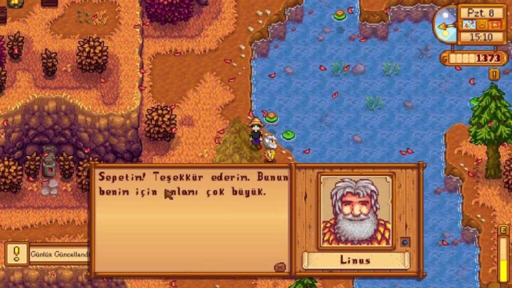 Stardew Valley Linus Ne Sever? (Liste)