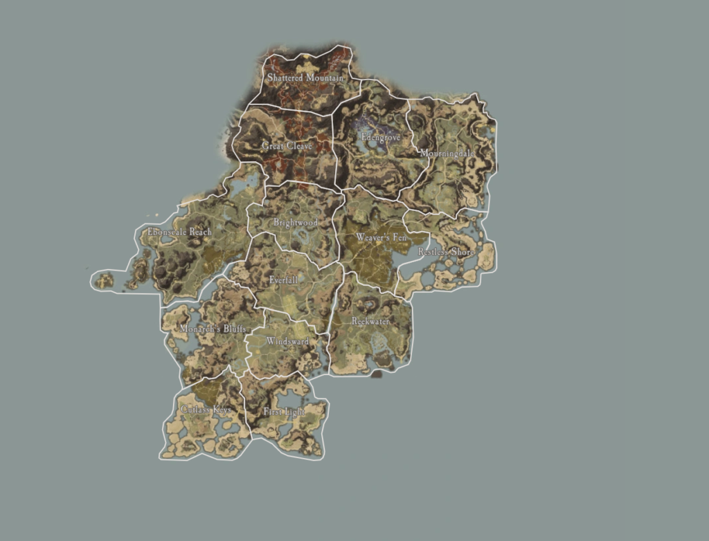 New World Haritası: Aeternum
